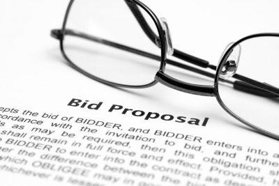 image of bid proposal